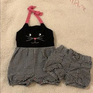 Rosie Pope Baby Cat Halter with matching shorts